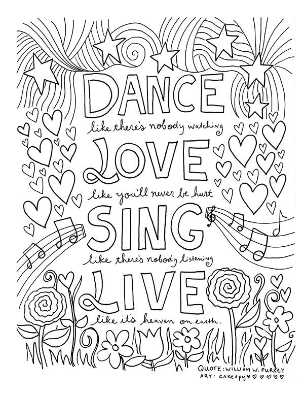 600x776 Happy Birthday Quotes Adult Coloring Pages Download
