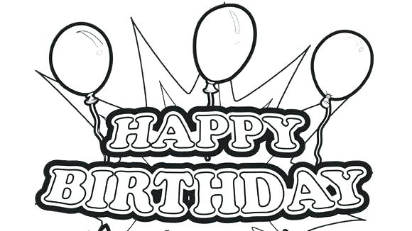 580x326 Winnie The Pooh Happy Birthday Coloring Pages Free