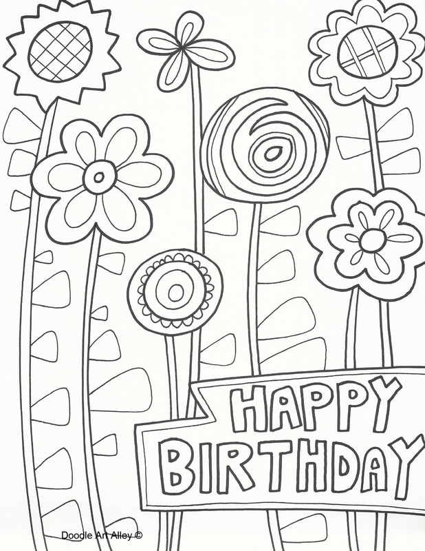 618x800 Birthday Coloring Pages