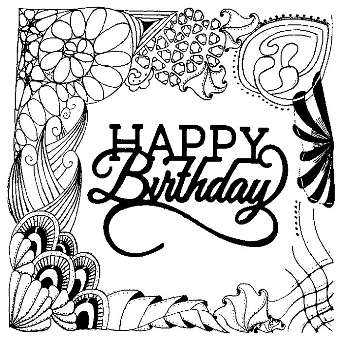 700x700 Birthday Coloring Pages For Adults