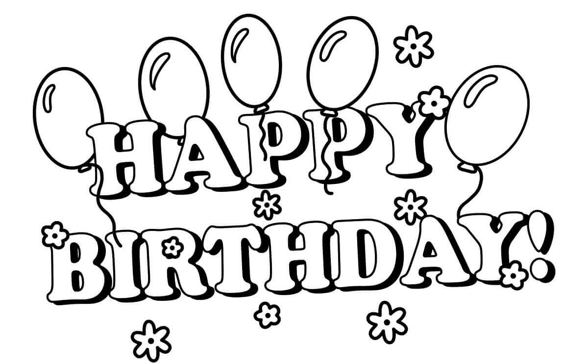 1200x742 Free Printable Happy Birthday Coloring Pages