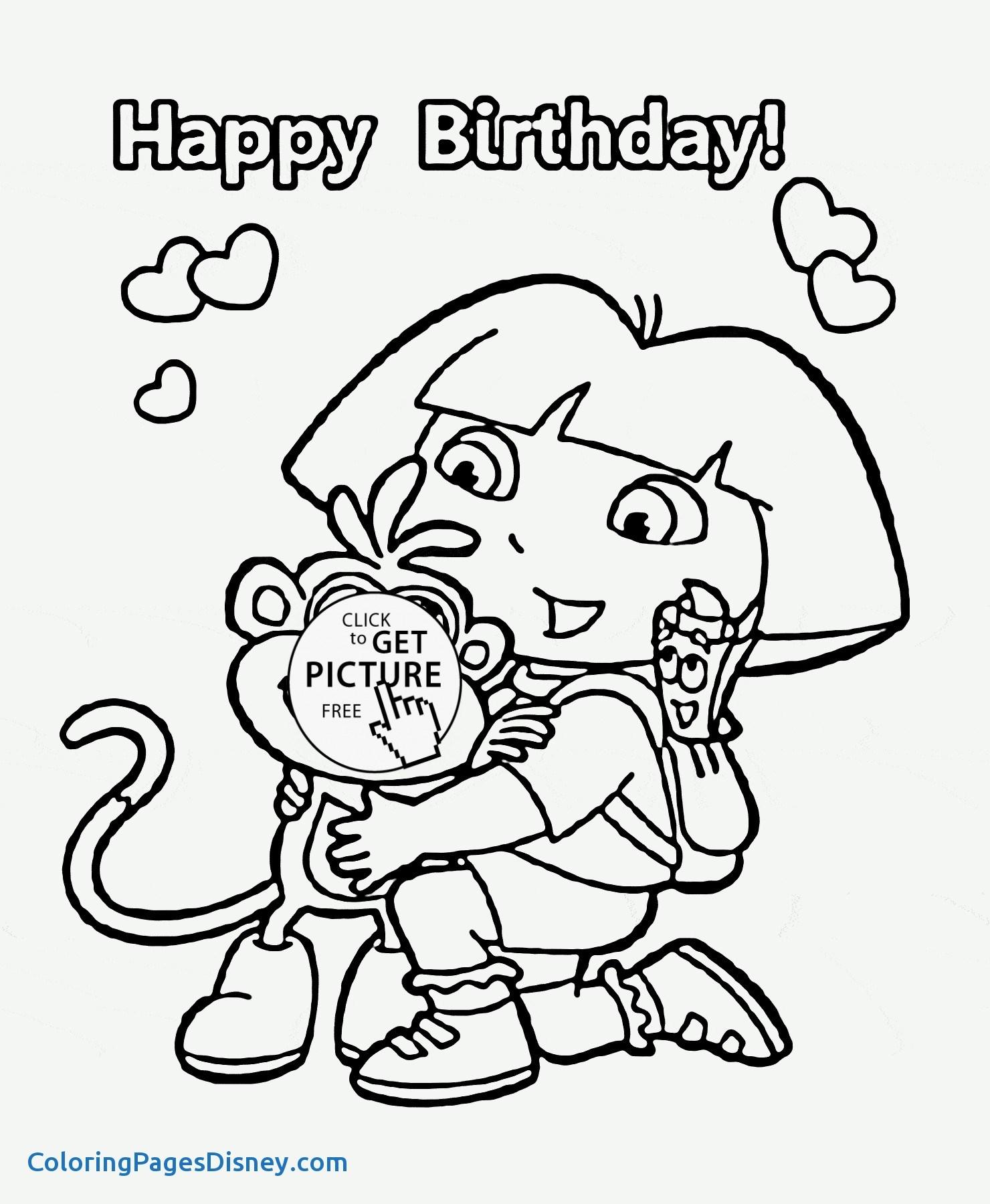 1480x1800 Go, Diego, Go! Coloring Pages New Dora Cartoon Happy Birthday