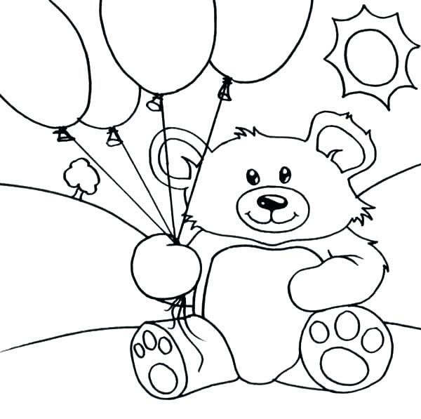 600x597 Happy Birthday Balloons Coloring Pages Boys Happy Birthday