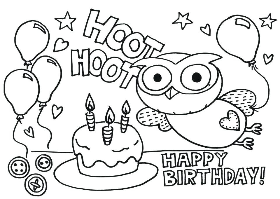 960x682 Happy Birthday Coloring Pictures Birthday Coloring Pages Free Free