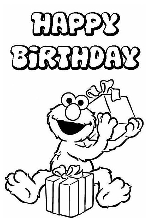 567x850 Happy Birthday Coloring Pages To Color In On Your Birthday