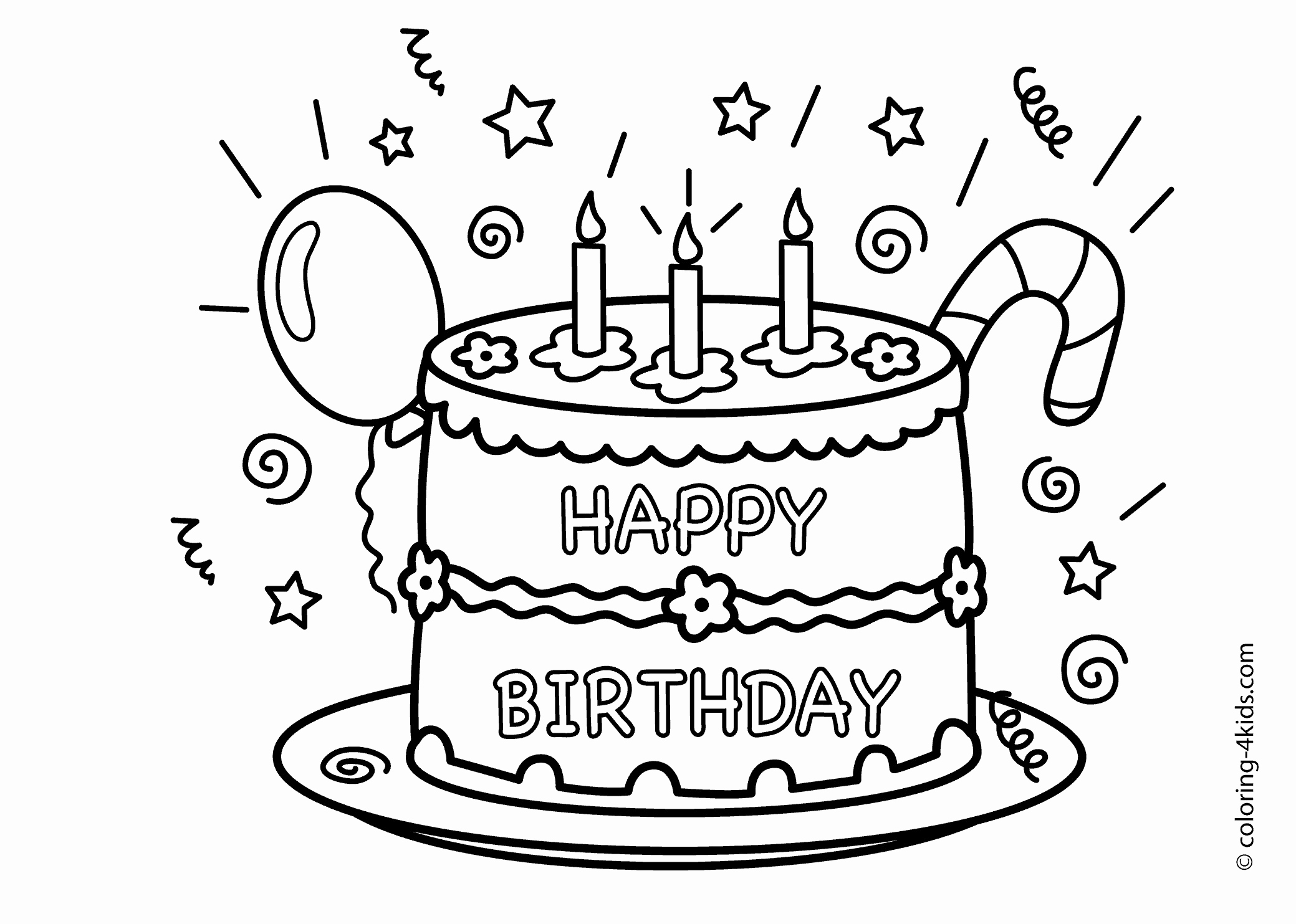 2079x1483 Printable Birthday Coloring Pages Best Of Birthday Coloring Pages
