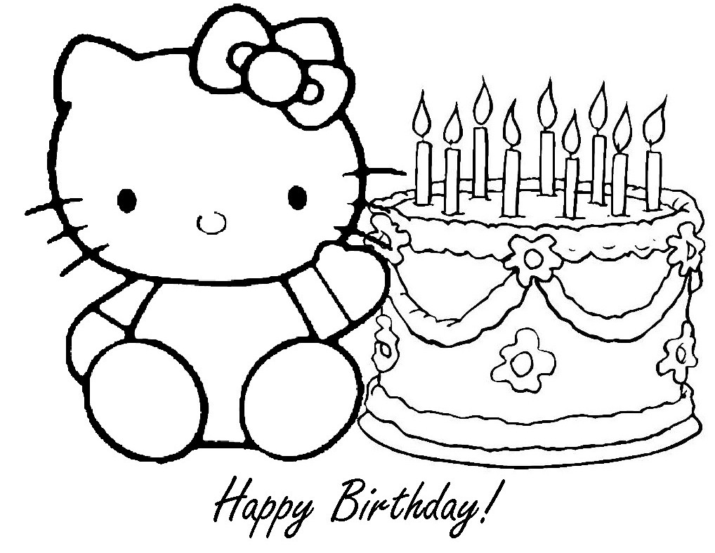 1018x787 Happy Birthday Coloring Pages For Girls Download