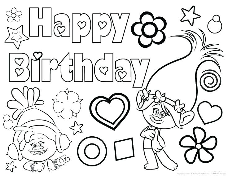 736x568 Coloring Pages For Your Dads Birthday Happy Birthday Coloring