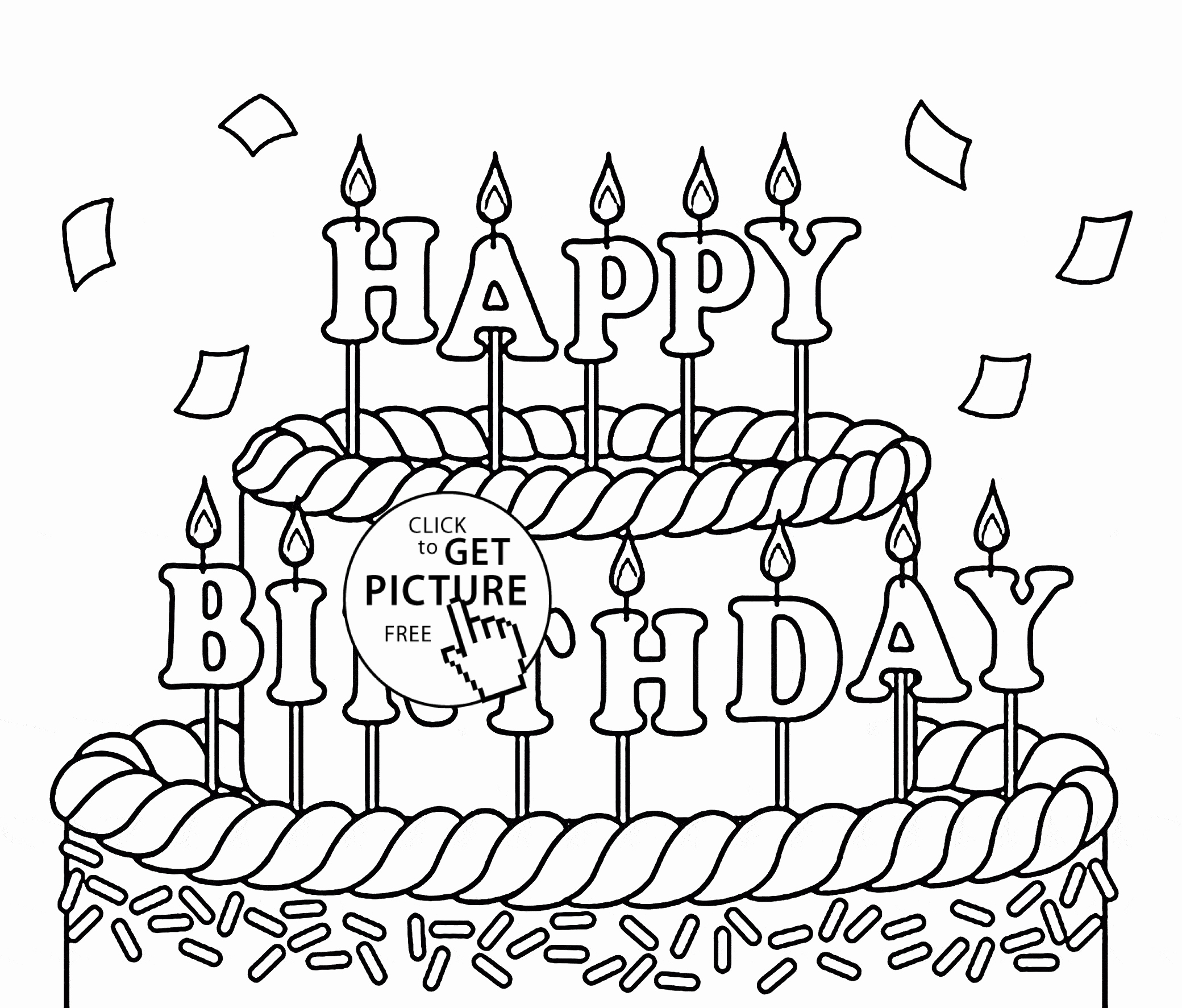 2080x1773 Free Birthday Coloring Pages To Print Luxury Birthday Coloring