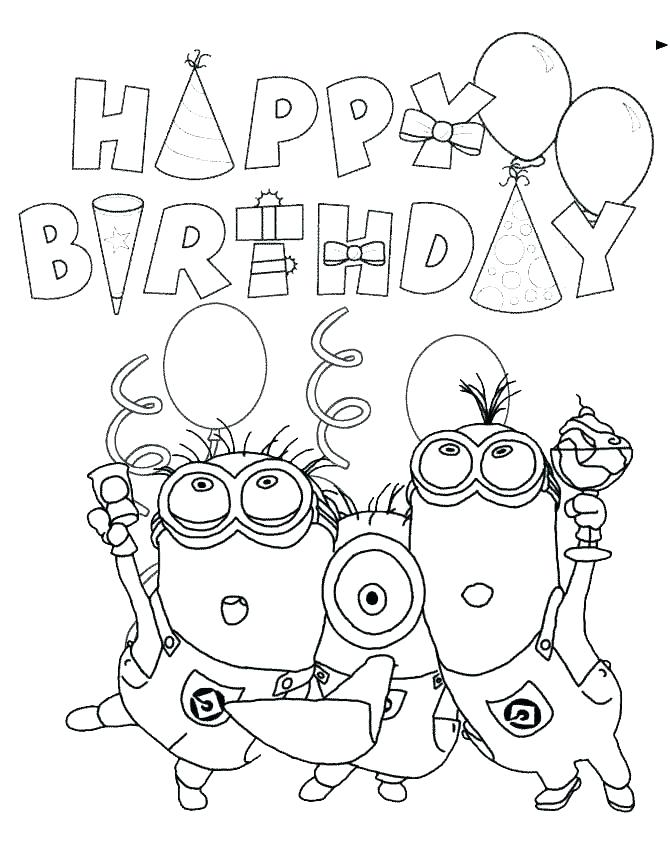 670x867 Free Printable Birthday Coloring Pages Boy Coloring Pages Free