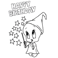 image relating to Printable Happy Birthday Coloring Pages named Pleased Birthday Coloring Internet pages For Females at