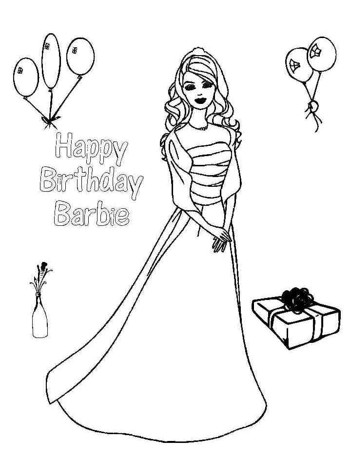Happy Birthday Coloring Pages For Girls at GetDrawings.com ...
