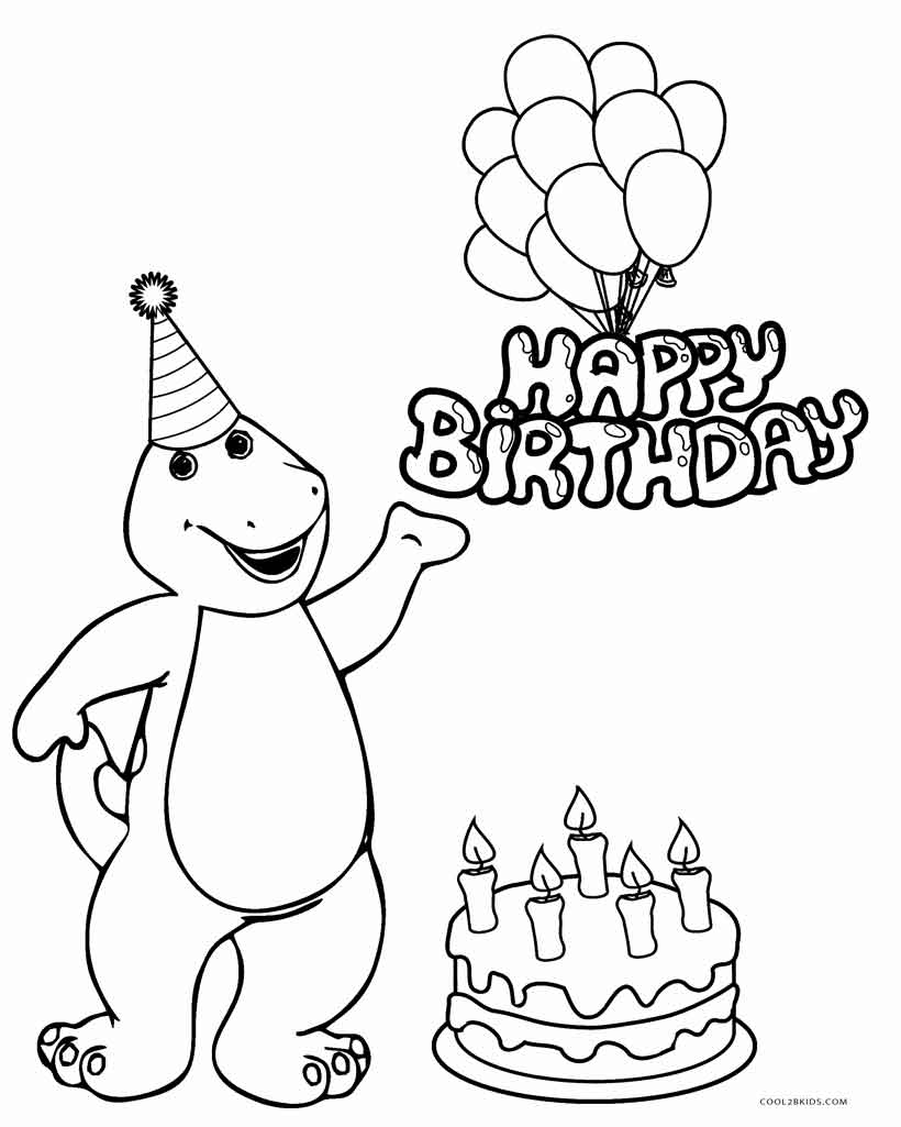 820x1025 Coloring Pages Happy Birthday With To Download Happy Birthday