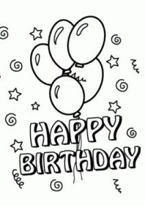 212x300 Free Printable Happy Birthday Coloring Pages For Kids