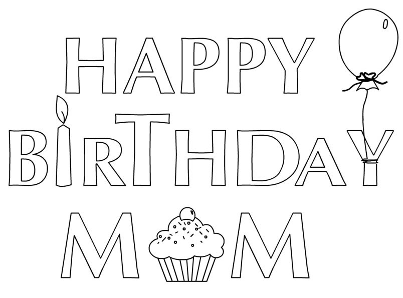 804x595 Happy Birthday Coloring Pages