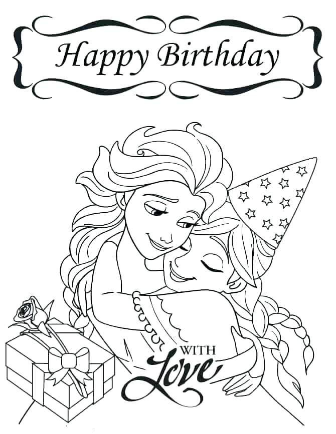670x867 Happy Birthday Coloring Pages For Grandma Happy Birthday Coloring