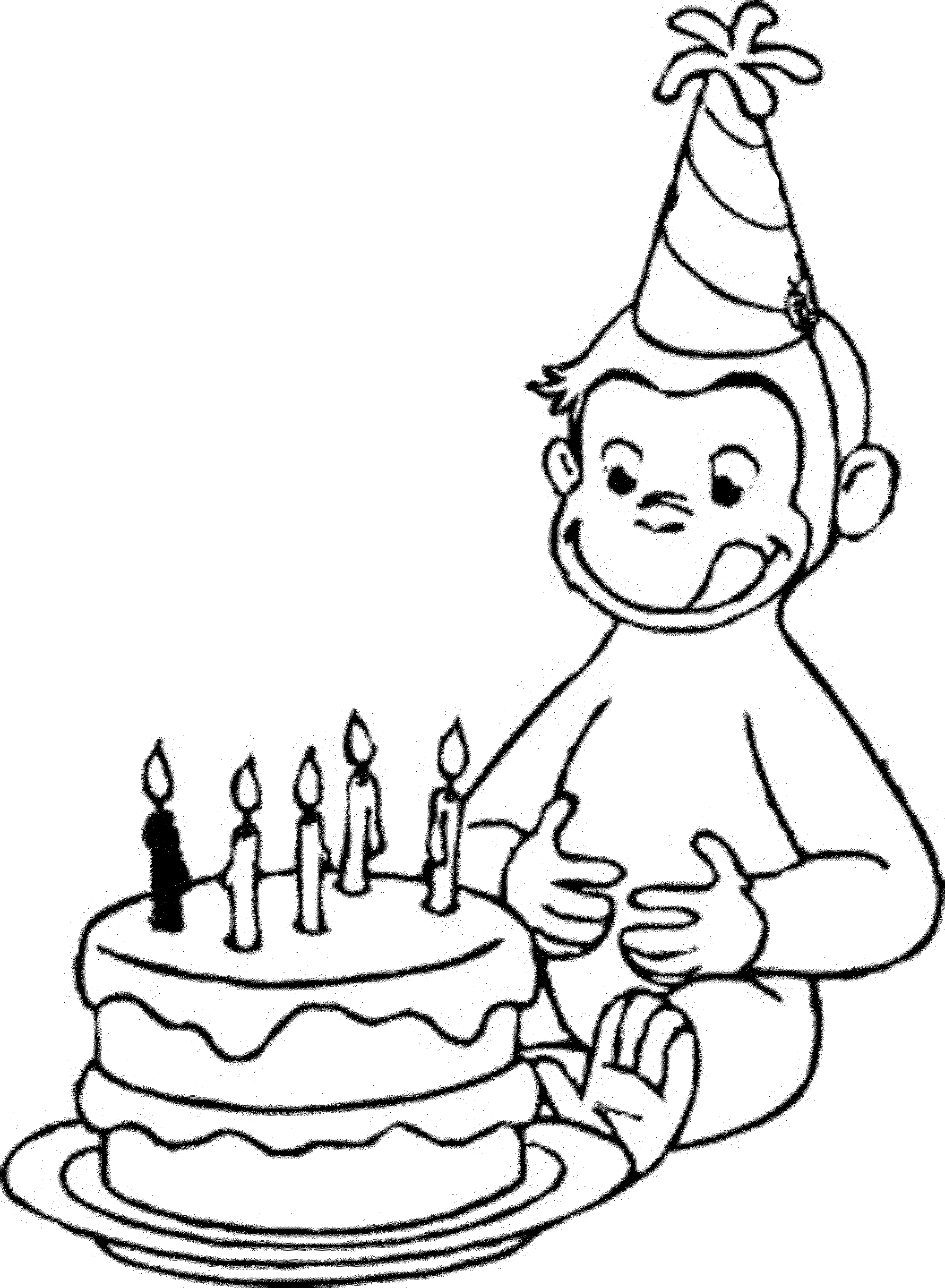 2000x2727 Happy Birthday Coloring Pages For Kids