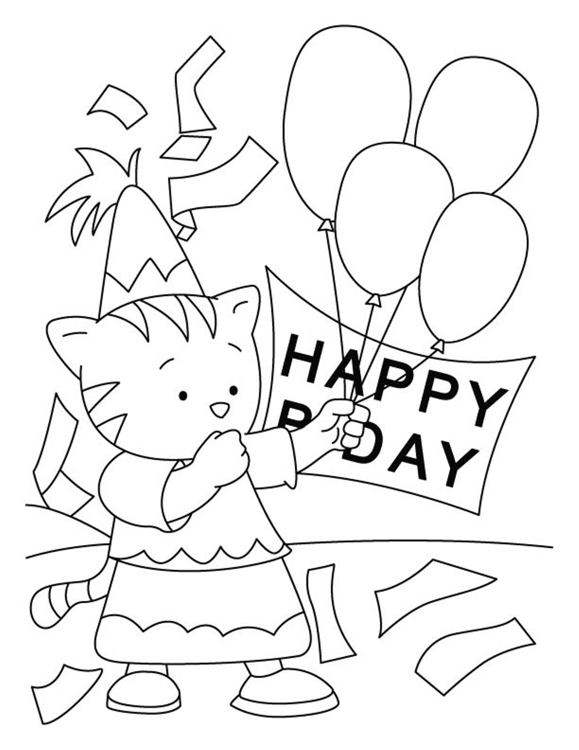 1157x1497 Happy Birthday Coloring Pages Free Printable Download For Kids