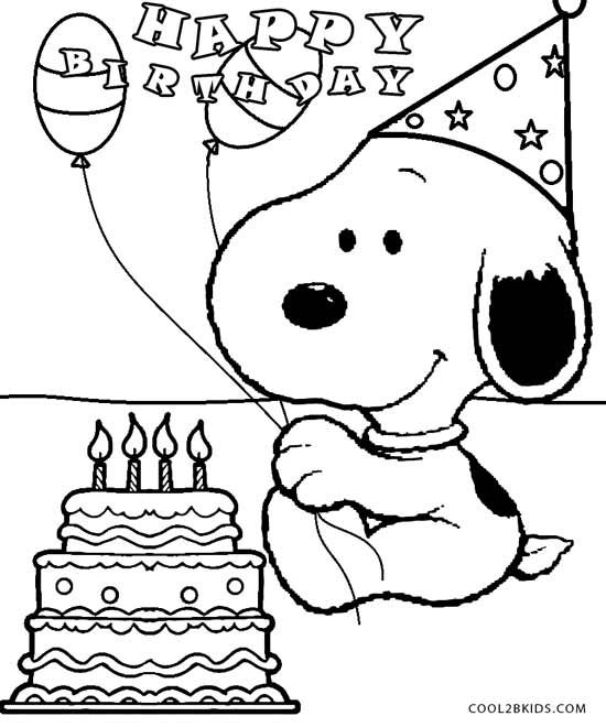 550x660 Snoopy Birthday Coloring Pages Snoopy Party Snoopy