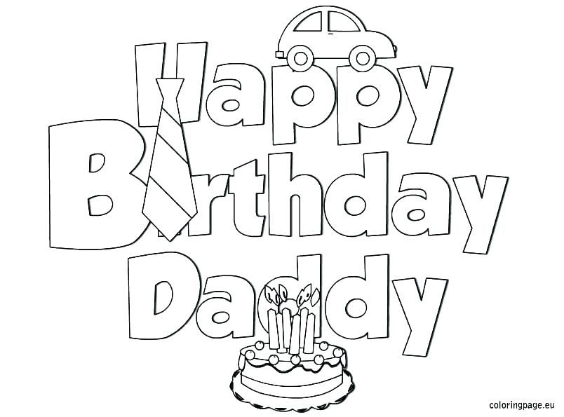804x595 Birthday Cake Line Drawing At Free For Personal Happy Birthday
