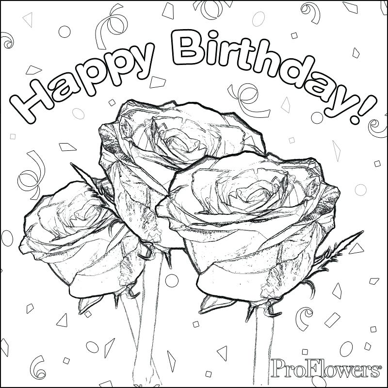 800x800 Birthday Coloring Pages Printable Images About Happy