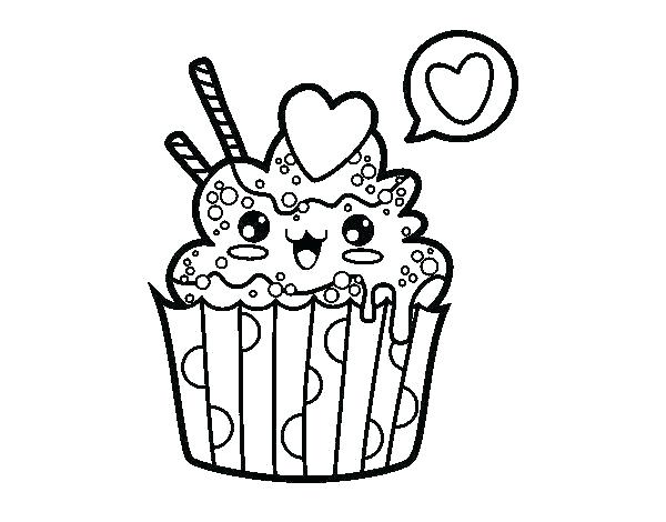 600x470 Cupcake Color Page Coloring Pages Cups Free Printable Cupcake