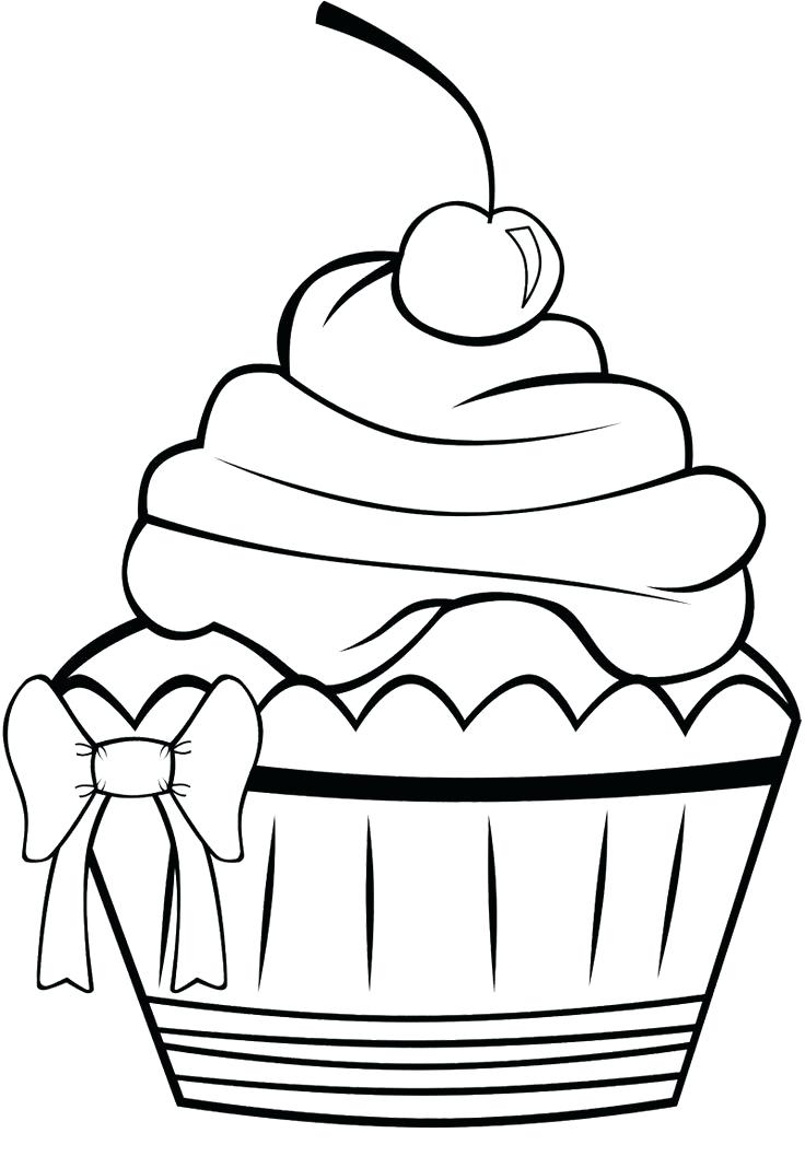 736x1068 Cupcake Color Page Cupcake Coloring Pages Free Printable