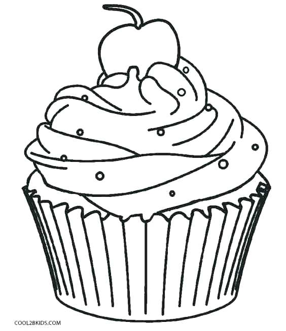 564x654 Cupcake Coloring Images Muffin Coloring Pages Cupcake Color Page