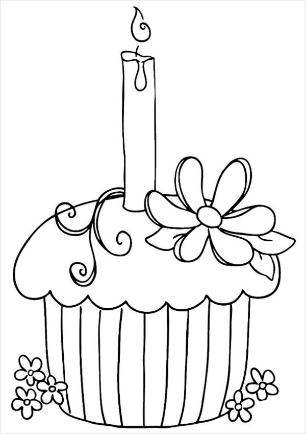 600x849 Happy Birthday Coloring Pages