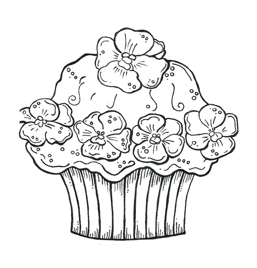 818x855 Free Printable Cupcake Coloring Sheets Kids Cupcake Coloring Book