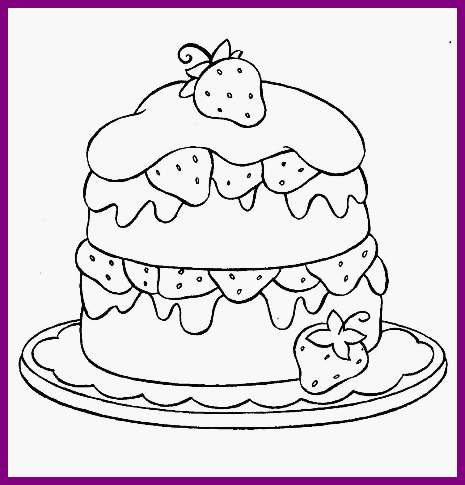 1505x1571 Astonishing Cupcake Coloring For Kids Happy Birthday Of Cat Page