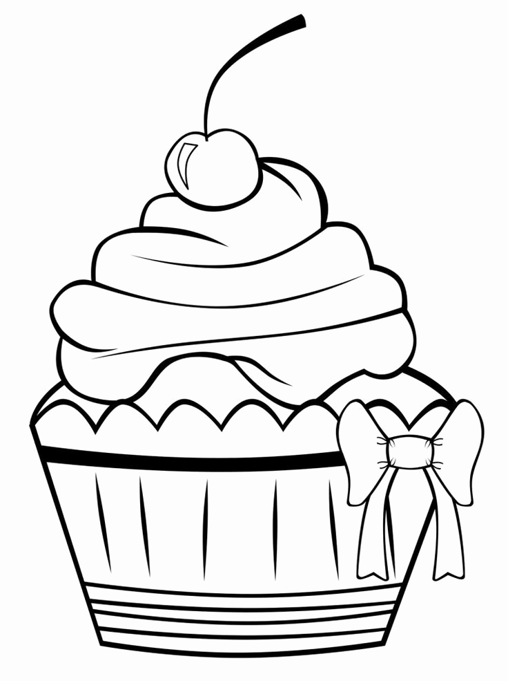 736x985 Printable Coloring Pages Color With Fuzzy Happy Birthday Cupcake