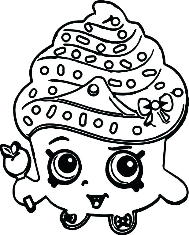 618x767 Cute Cupcake Coloring Pages
