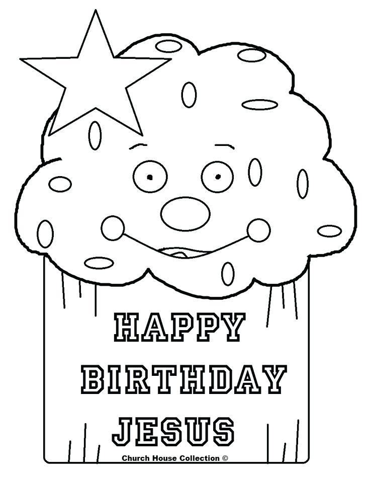 736x952 Happy Birthday Jesus Coloring Page