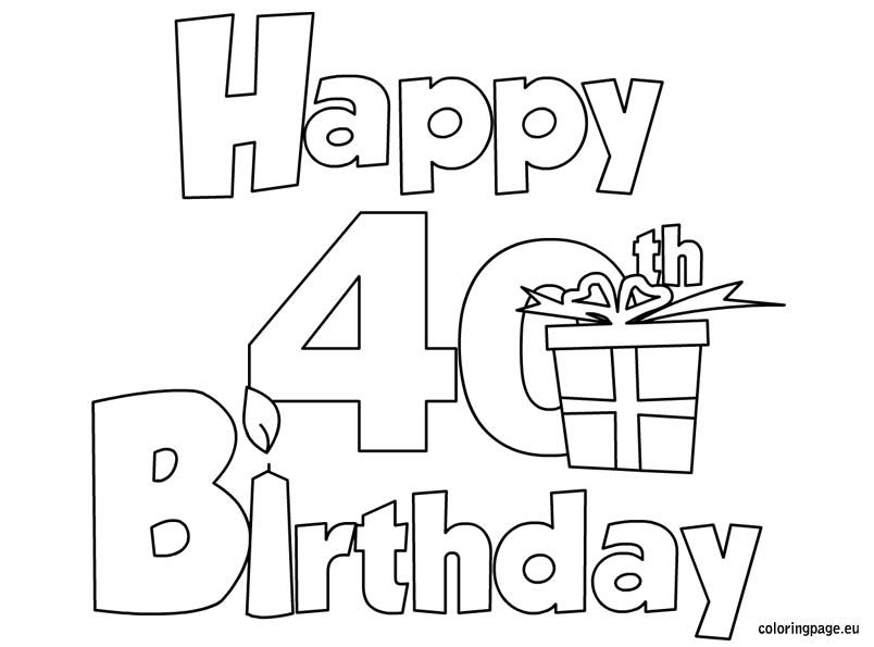 Happy Birthday Dad Coloring Pages At Getdrawings Com Free For