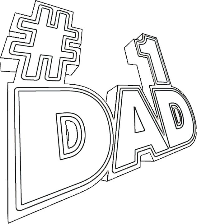 633x720 Dad Coloring Pages Dad Coloring Es Happy Birthday Dad Coloring