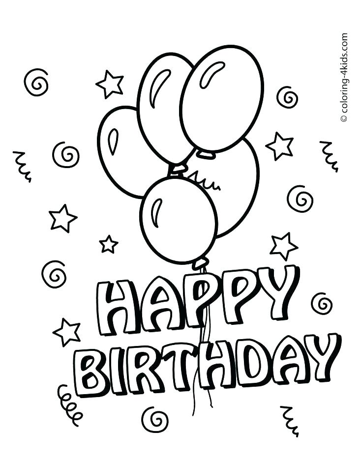 Happy Birthday Dad Printable Coloring Pages