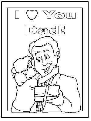 300x400 Dad Coloring Page S Happy Birthday Dad Printable Coloring Pages