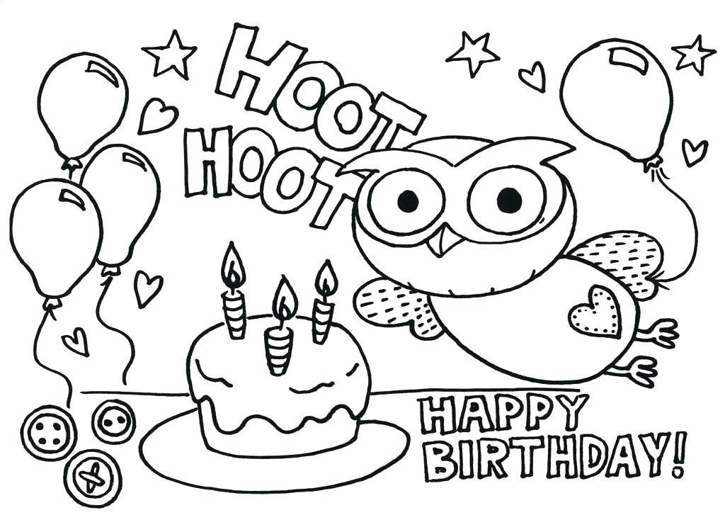 1024x727 Free Happy Birthday Coloring Pages Printable Happy Birthday