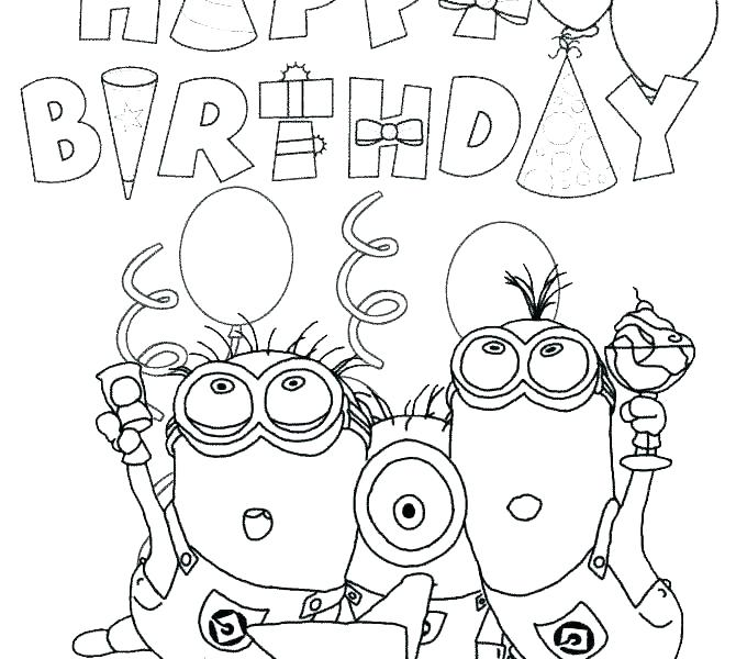 670x600 Happy Birthday Coloring Pages Plus Printable Coloring Pages That