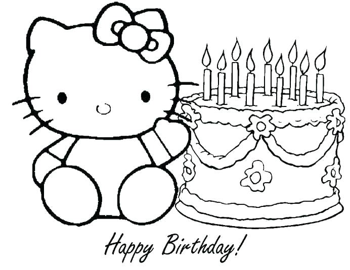692x535 Happy Birthday Coloring Pages Printable Happy Birthday Coloring
