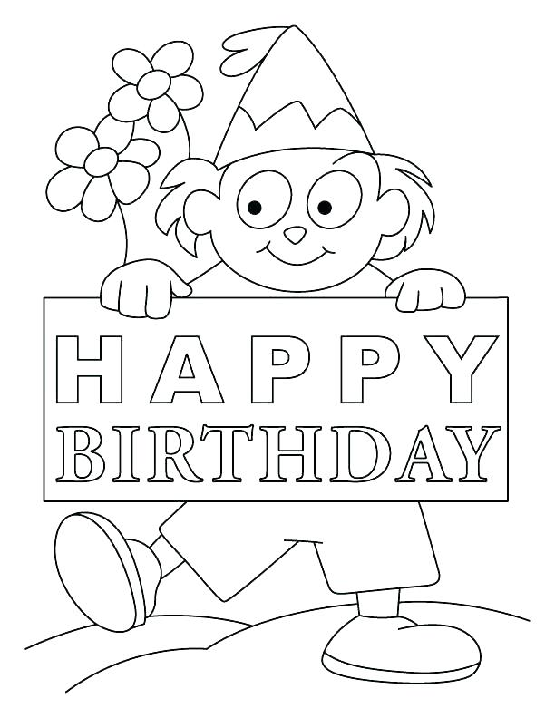 612x792 Birthday Card Coloring Page Dad Birthday Card Printable Printable