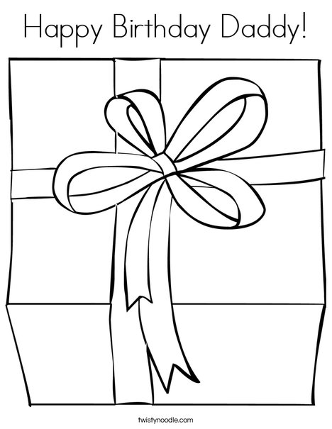 468x605 Happy Birthday Daddy Coloring Page