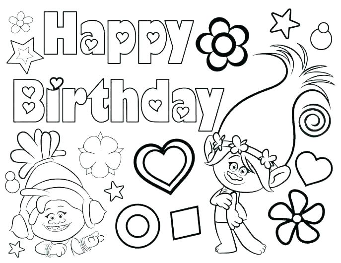 687x530 Printable Happy Birthday Coloring Pages Free Printable Happy