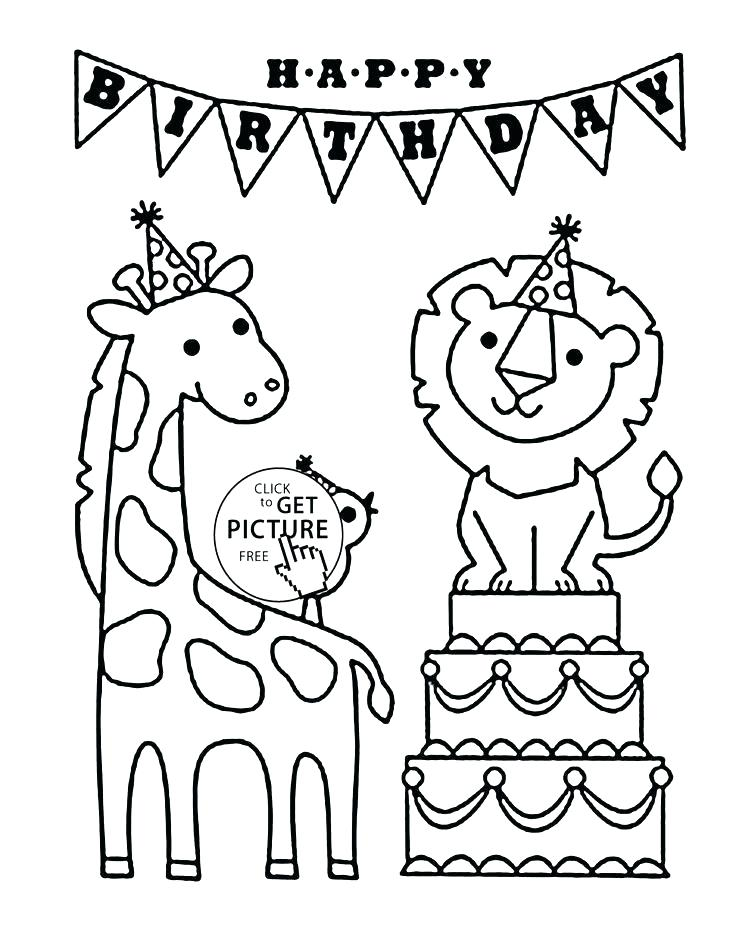 736x951 Coloring Happy Birthday Dad Coloring Pages Free And Funny Animals