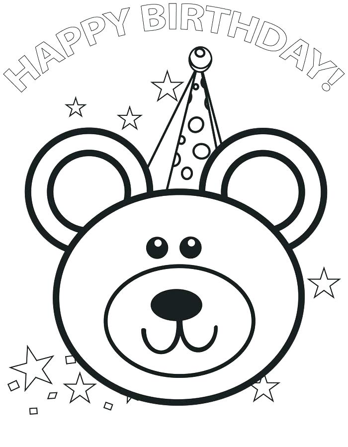 700x899 Coloring Pages Happy Birthday