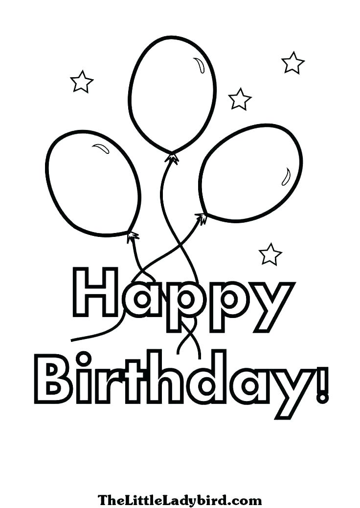 736x1040 Birthday Cards Coloring Pages Happy Birthday Coloring Pages Free
