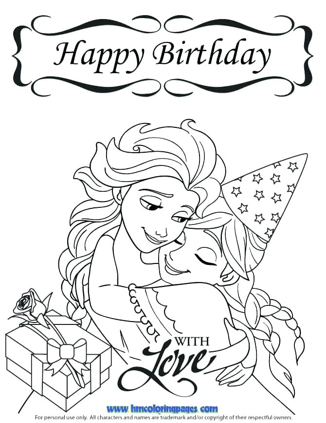 670x867 Coloring Pages Happy Birthday Free Birthday Coloring Pages