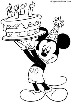 Happy Birthday Disney Coloring Pages at GetDrawings.com | Free for ...