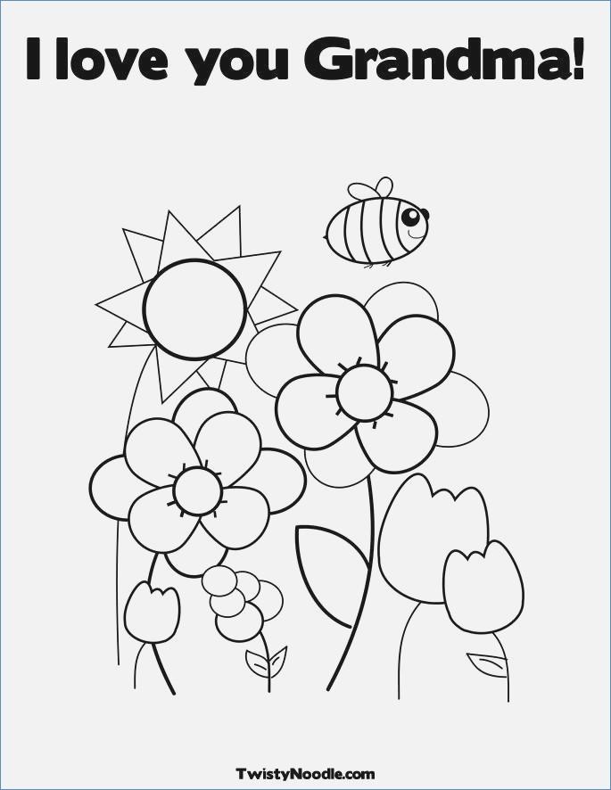 685x886 Happy Birthday Grandma Coloring Card